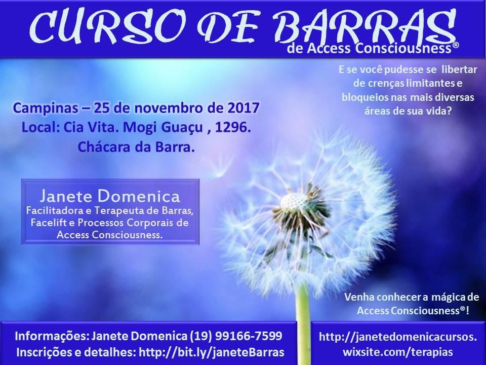 Curso de Barras de Access Consciousness - Campinas - Sympla