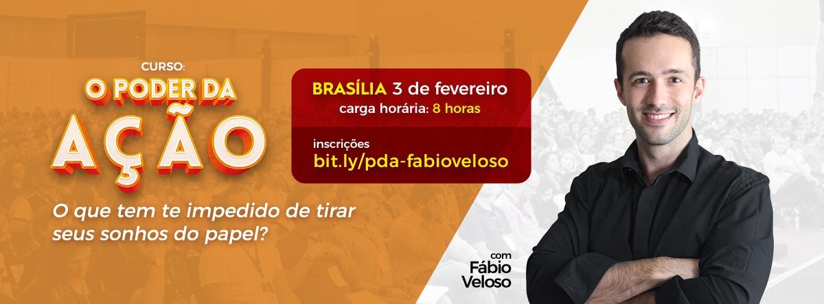 Curso O Poder da Ação em Brasília com Fábio Veloso - Sympla f30fca06d9