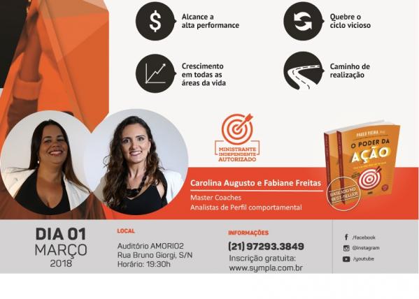 PALESTRA O PODER DA AÇÃO - GRATUITA - Sympla 4310594f6e