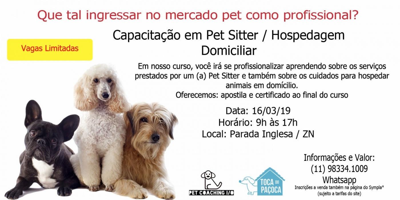Capacitação em Pet Sitter / Hospedagem Domiciliar - Sympla
