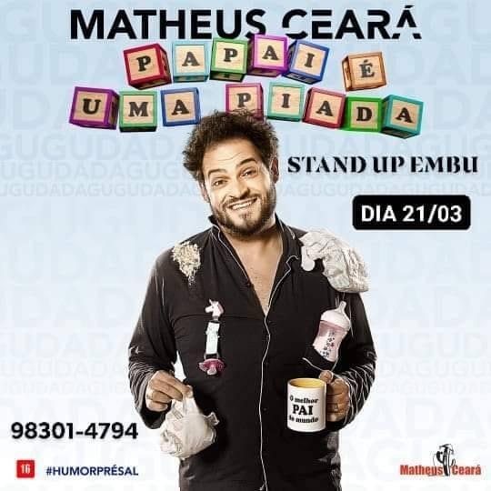 fbd04c59d MATHEUS CEARA STAND UP EMBU - Sympla