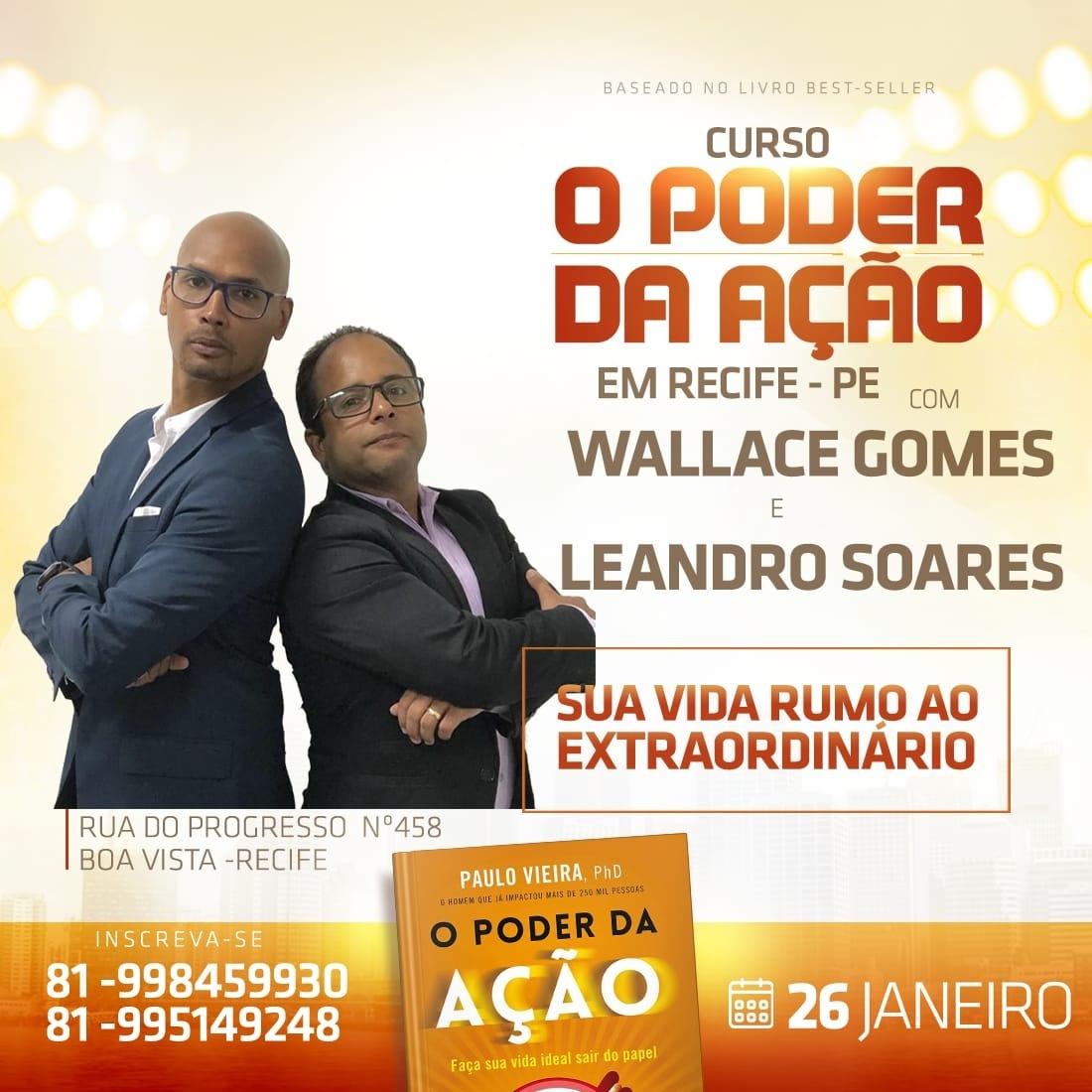 CURSO O PODER DA AÇÃO- BASEADO NO BEST SELLER DO MASTER COACH E PHD PAULO  VIEIRA. - Sympla eeb4f26427