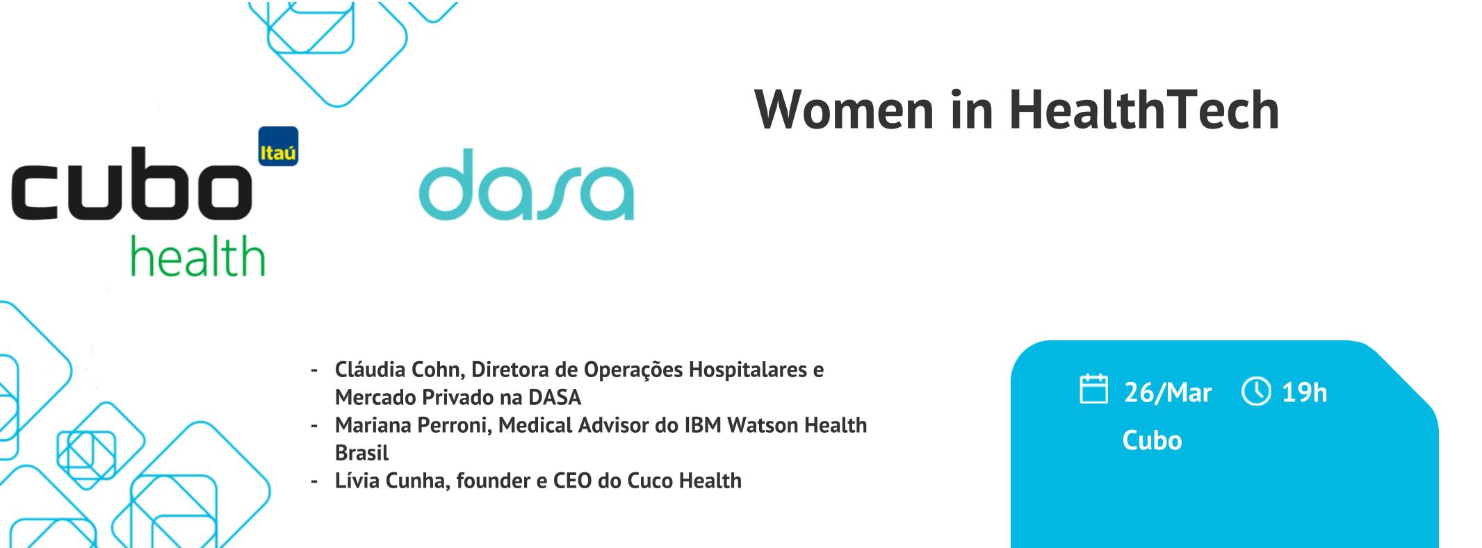 sympla.com.br - #CuboHealth - Women in HealthTech