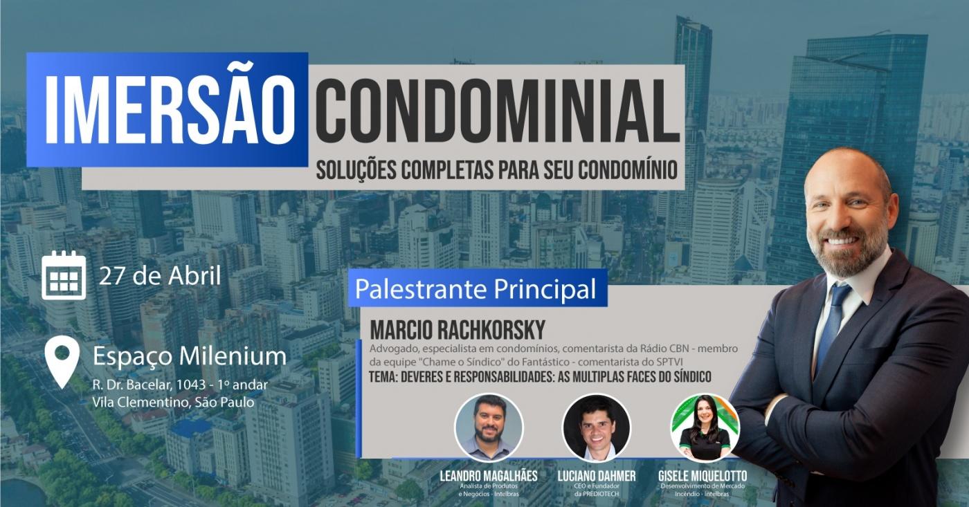 Convite para Imersão condominial da MinhaPortaria.