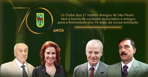 Resultado de imagem para CLUBE DOS 21 IRMÃOS AMIGOS DE SÃO PAULO