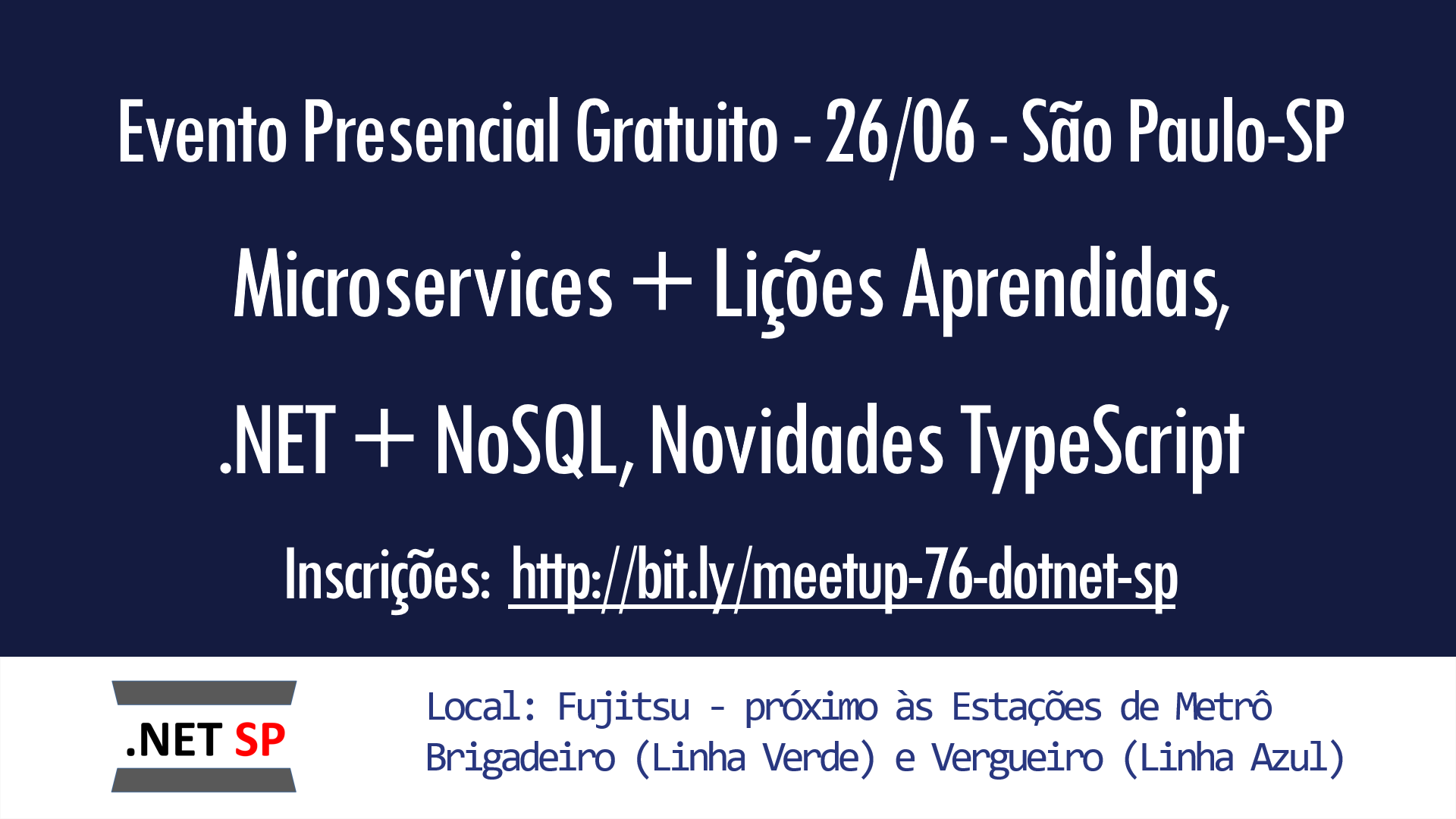 NET SP #76: NoSQL +  NET, Microservices, Novidades do