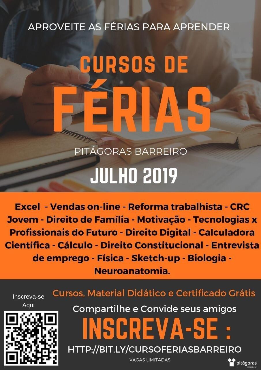 Cursos De Férias Na Faculdade Pitágoras Barreiro Sympla