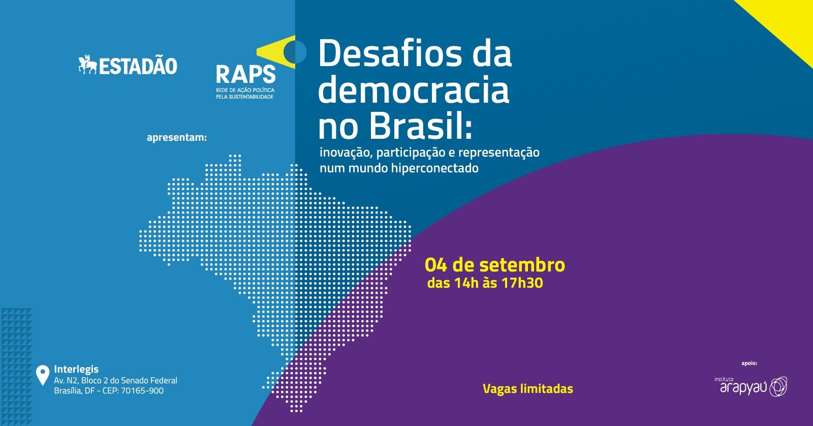 Resultado de imagem para Desafios da democracia no Brasil: inovação, participação e representação num mundo hiperconectado