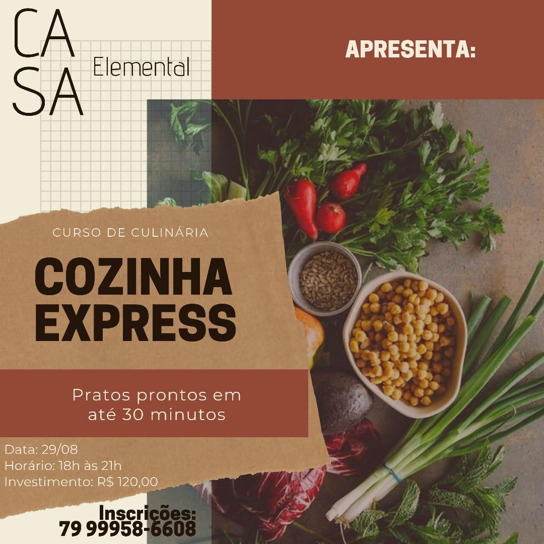 CURSO DE CULINÁRIA COZINHA EXPRESS - Pratos prontos em até