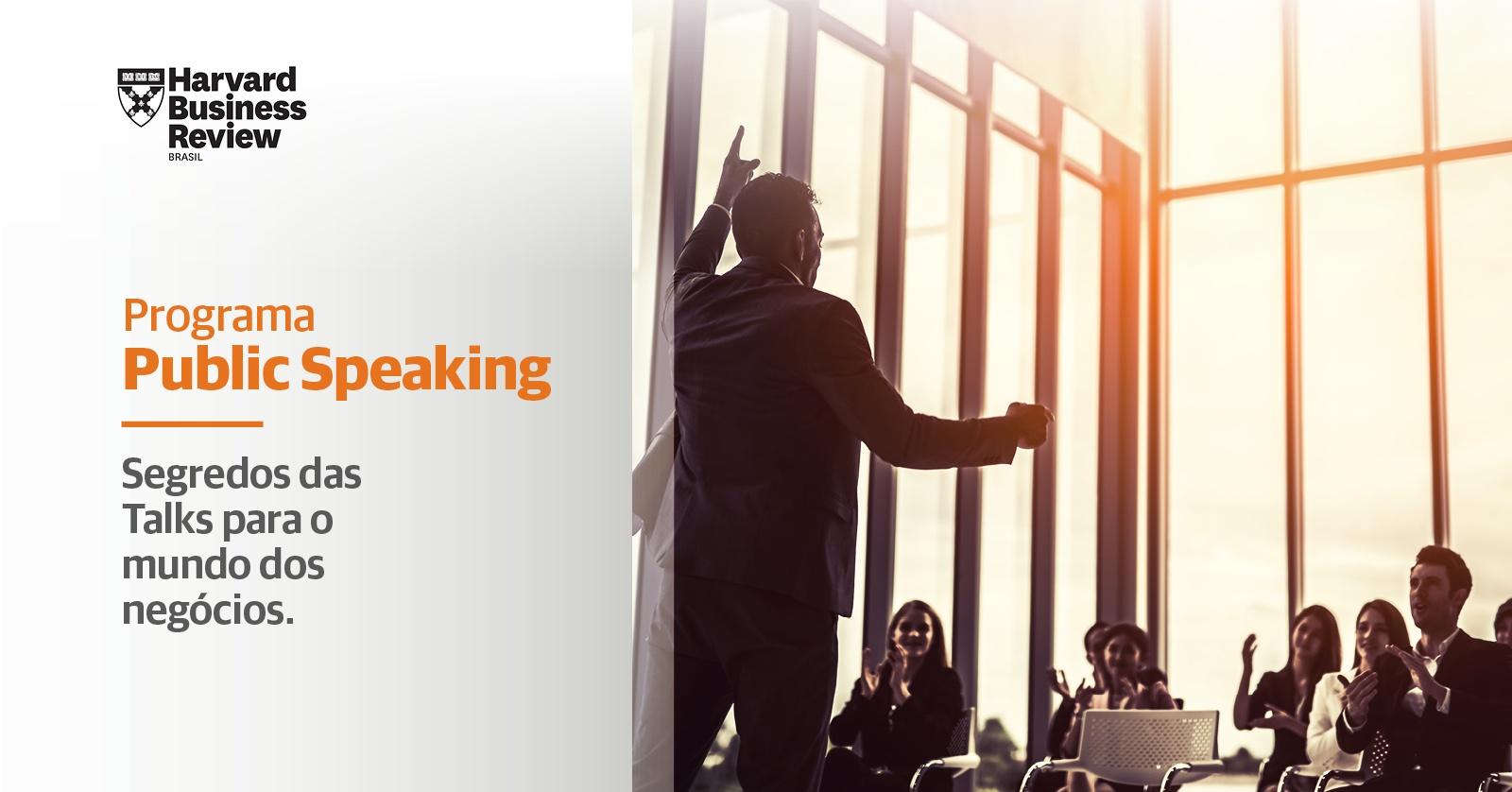 Programa Public Speaking | Harvard Business Review Brasil ...