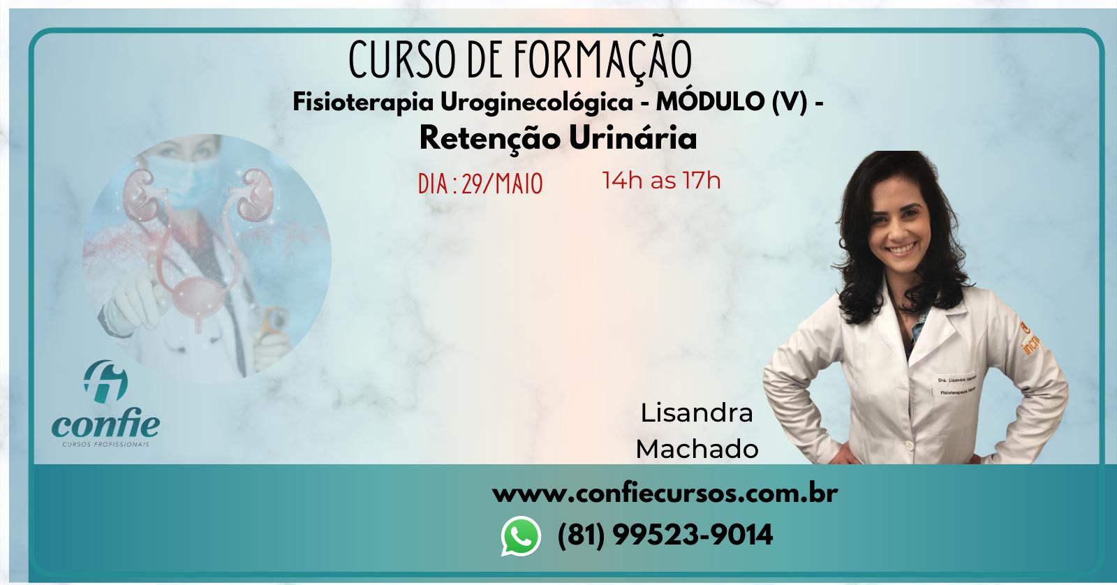 Curso De Formacao Em Fisioterapia Uroginecologica Modulo V Retencao Urinaria Sympla