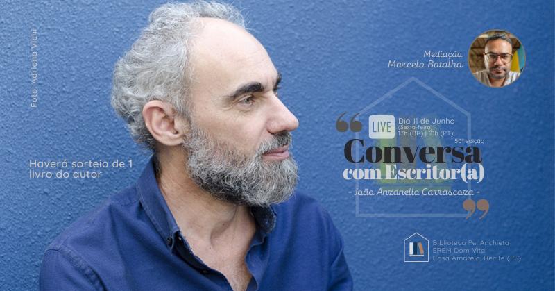 Conversa com Escritor(a), com João Anzanello Carrascoza - Sympla