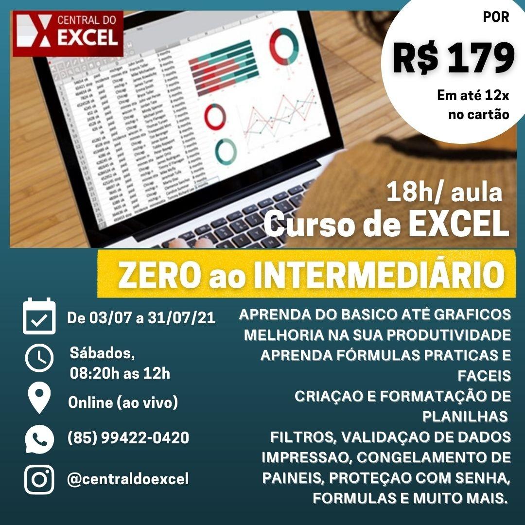 EI20   Excel do ZERO ao INTERMEDIÁRIO  20 On Line AO VIVO ...