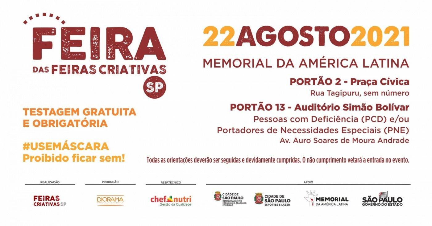 FEIRA DAS FEIRAS CRIATIVAS | DOMINGO - DIA 22 - Sympla